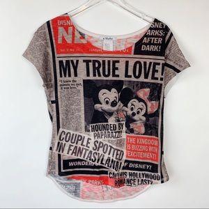 Disney Parks My True Love Newspaper Print Tee